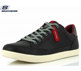 MOŠKI CASUAL SKECHERS PLACER MANECO 65945 BLACK/GREY